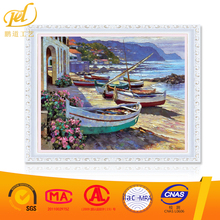 Diy Oil Painting By Numbers Kits Boat On The Beach Gift For Friends A011