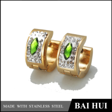 2016 Trending Hot Products Fashion Green Rhinestone Earrings for Women