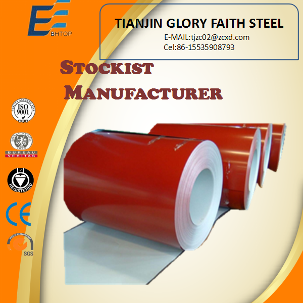 Red color zinc coating metal strip