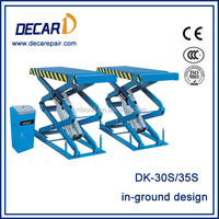 Scissor Design Inground Car Lift For