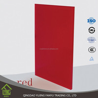 Brand 3~8 mm red paint glass/coated glass decorative glass