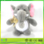 Free sample Cute Plush Colorful Elephant Soft Stuffed Wild Animal Toy With Big Ears