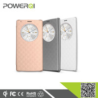 Powerqi cell phones accessories qi receiver flip case for latest coming LG G4 with stylish design and good feel