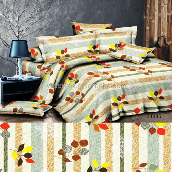zhejiang factory cheap disperse printed polyester fabric bedding fabric home textile /100% polyester microfiber bed sheet fabric