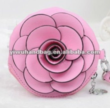 Fashion Women PU Rose Coin Purse in stock