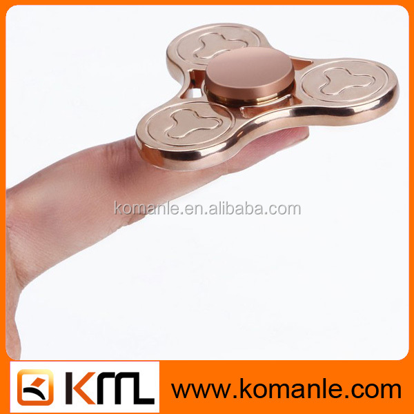 100% refined copper Metal material hand spinner toys