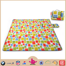 Wholesale cheap polar fleece china factory waterproof custom disposable picnic blanket/outdoor picnic mat