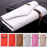 Luxury Flip Synthetic Leather Wallet Stand Magnetic Zipper Case for Samsung Galaxy Note 3 III N9000