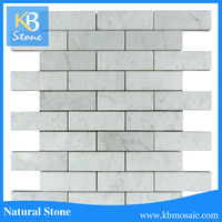 Wall Or Floor Brick Good Design Shaped White Marble Mosaic Tile For Sale