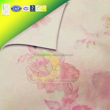 Flower Printed Knitted Ticking Mattress Fabric of Rayon Nylon Material