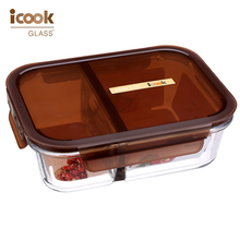 2017 New Products 2 Compartments Kitchen Storage Containers