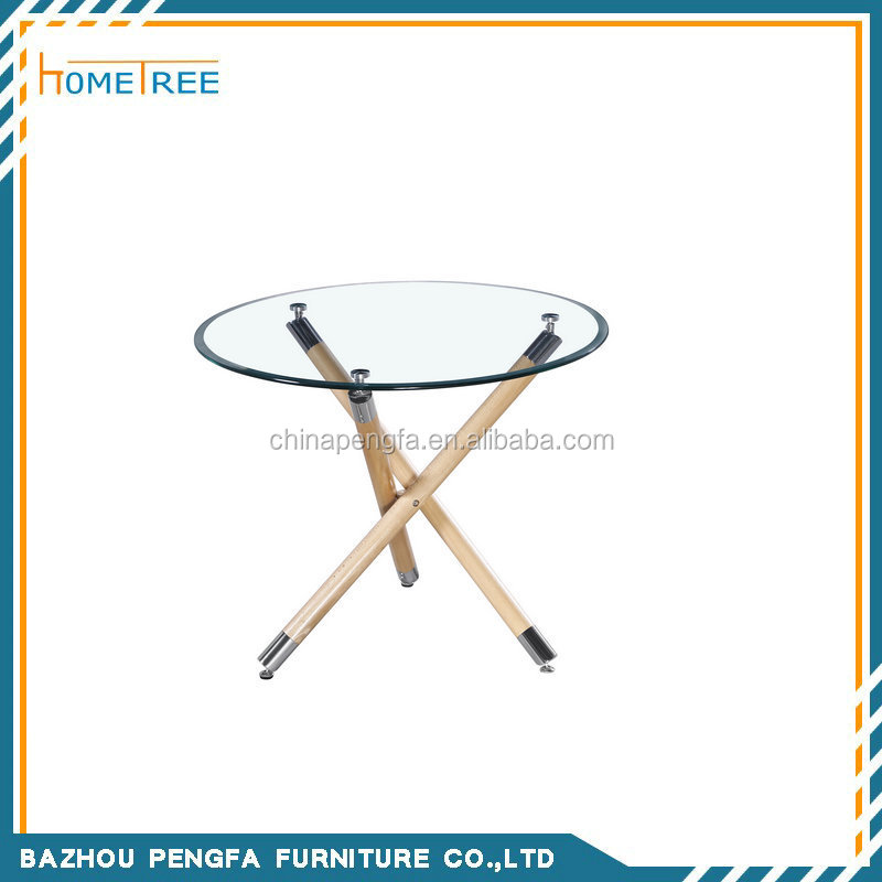 Hot sale cheap dining room high glossy used dinner table round