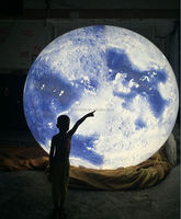 led changable light party decorations inflatable moon ball for sale