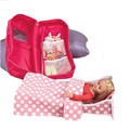 Hign Quality hot selling New Portable Fashion Exquisite Dolls Rocking Bed and Bedding Trolley Travel Case toy Doll