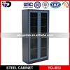 180 degree open door tall steel book rack cabinet with swing glass door