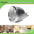 LED dimmable gu10 bulb light hotel 2700k warm white led spotlights