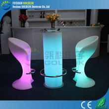 GLACS System LED wedding furniture for table and chair GLACS/Music/Linght control