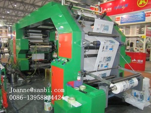 High speed 4 color Plastic Flexo Printing Machine