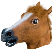 Christmas/Halloween party gift eco friendly latex material horse head mask for sale