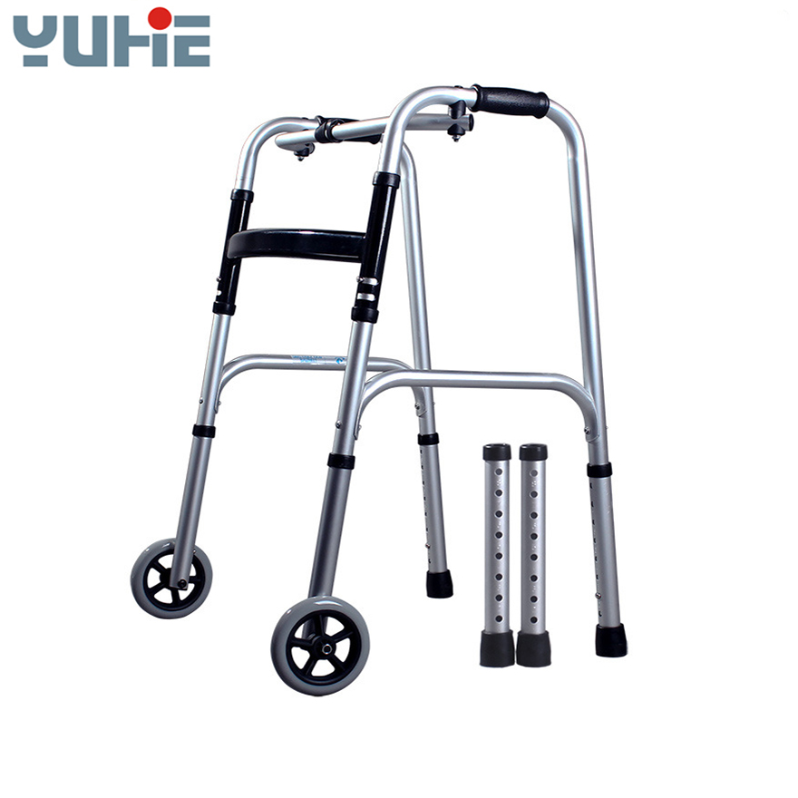 different types of aluminium Foldable walker for disabled