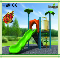 Small size outdoor playground of swimming pool slide
