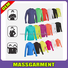 custom long sleeve polyester/spandex compression sport t shirt