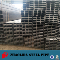 made in china factory ! round/square/rectangular/ oval tube black rectangular steel hollow section q195
