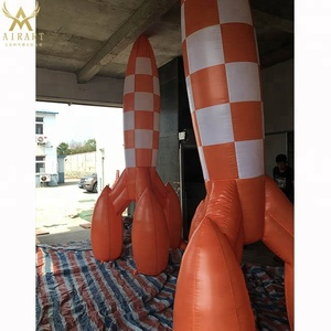 beautiful inflate rocket balloon/inflatable rocket model