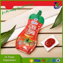 Wholesale stand up ketchup retort pouch with spout
