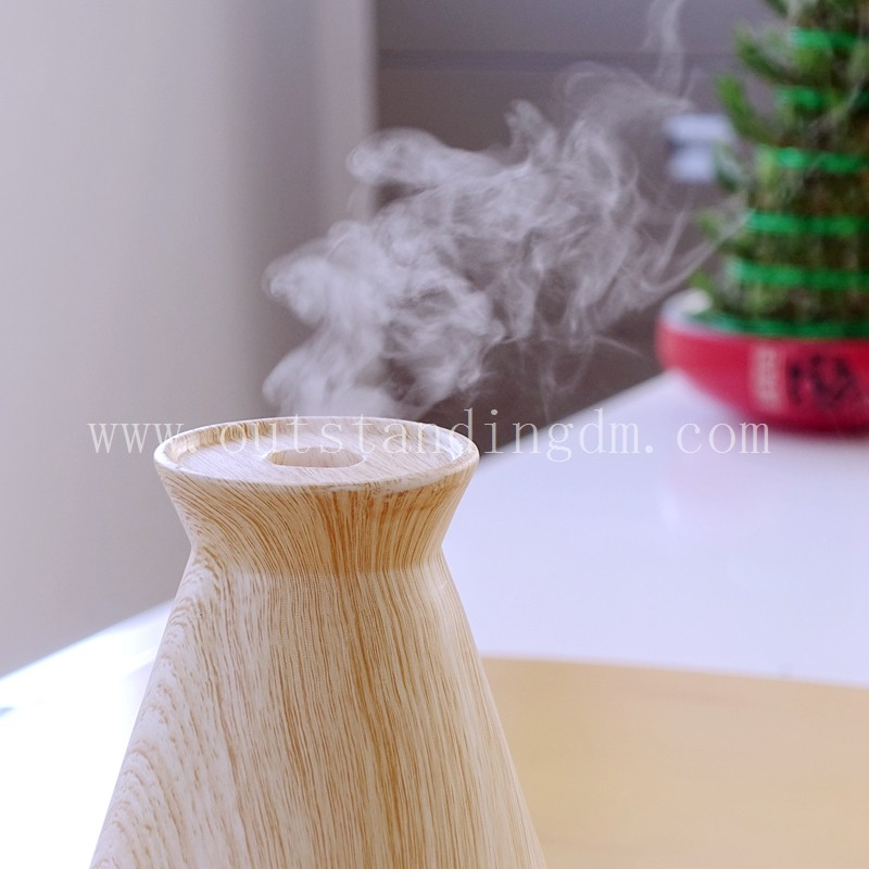 Electric Aroma Essential Oil Diffuser With Wood Grain Ultrasonic Aroma Diffuser