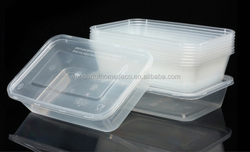 1 compartment disposable plastic fast food one time use food container with lid