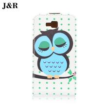 J&R Brand Leather Case For Samsung Galaxy Core I8260 I8262 Flip Cover Vertical Magnetic High Quality 9 Colors Free Shipping