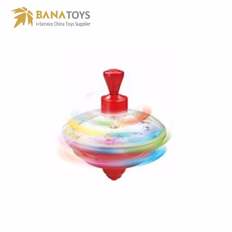 Finger spin top gyroscope toy spinning top with light music