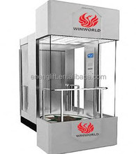 Outside panoramic sightseing lift elevator laminated glass and stainless steel sightseeing elevator