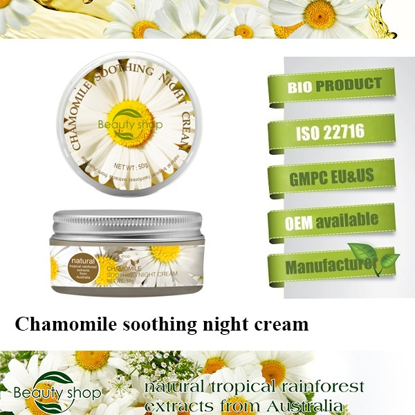Chamomile fairness night glow cream
