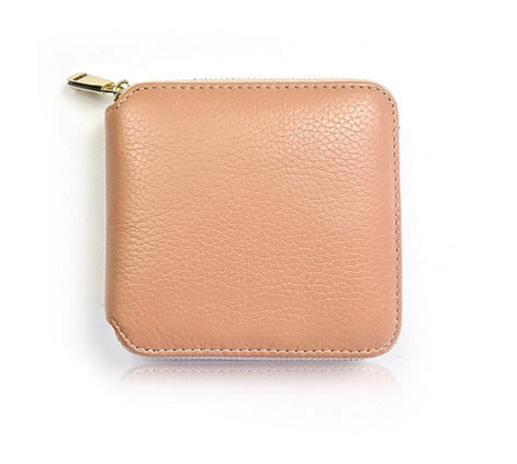 100% genuine leather lady fashion wallet custom coin purse money clip credit card holder leather purse