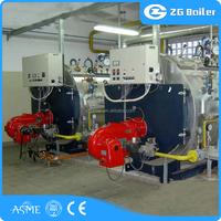 2016 new horizontal 1000kg\hr ldo steam boiler