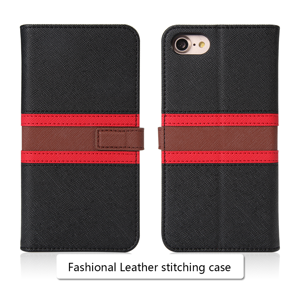 Made of high quality PU leather wallet case  for new iphone 7 4.7 inch 2018