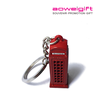Customized Metal British souvenir London Telephone booth keychain