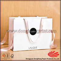 Ribbon tie printed clothes packing gift paper bag