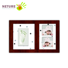 Clay Footprint Baby Keepsake Double Photo Frame Kit