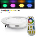 Newest style Factory Milight 2.4G RF Remote Control 12W RGBWW Dimmable LED Downlight