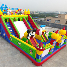 Outdoor customized funny animal theme kids amusement park inflatable fun city playground for entertainment