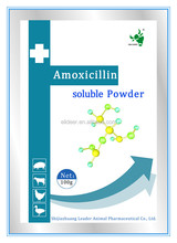 veterinary pharmaceutical amoxicillin and colistin sulfate soluble powder