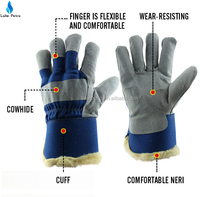 cow leather low temperature gloves