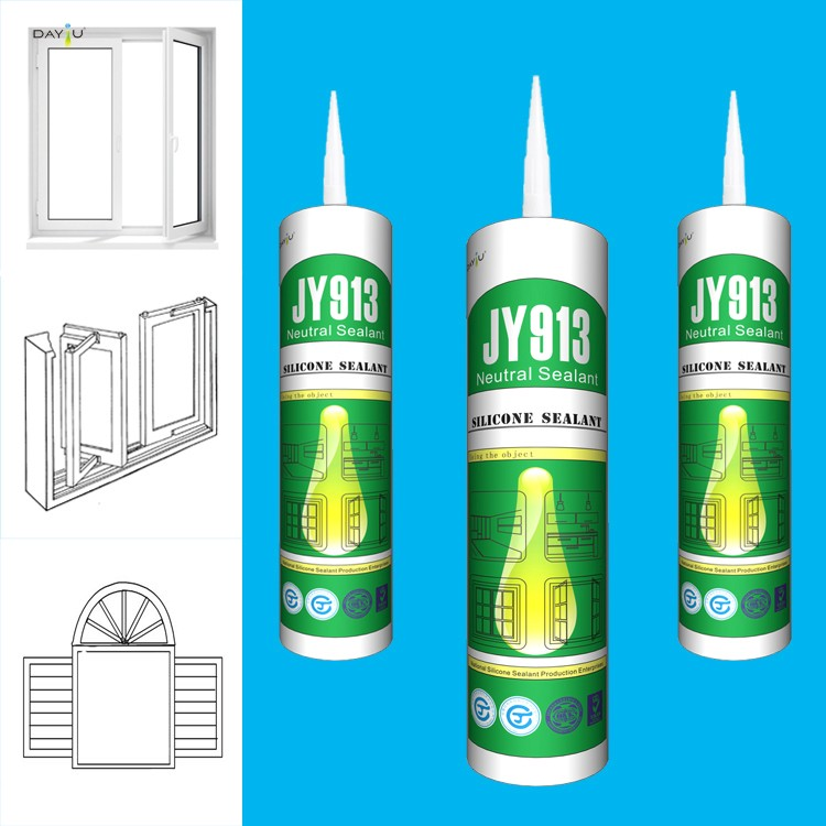 High quality JY913 weather proof silicone adhesive for metal white glue for wood