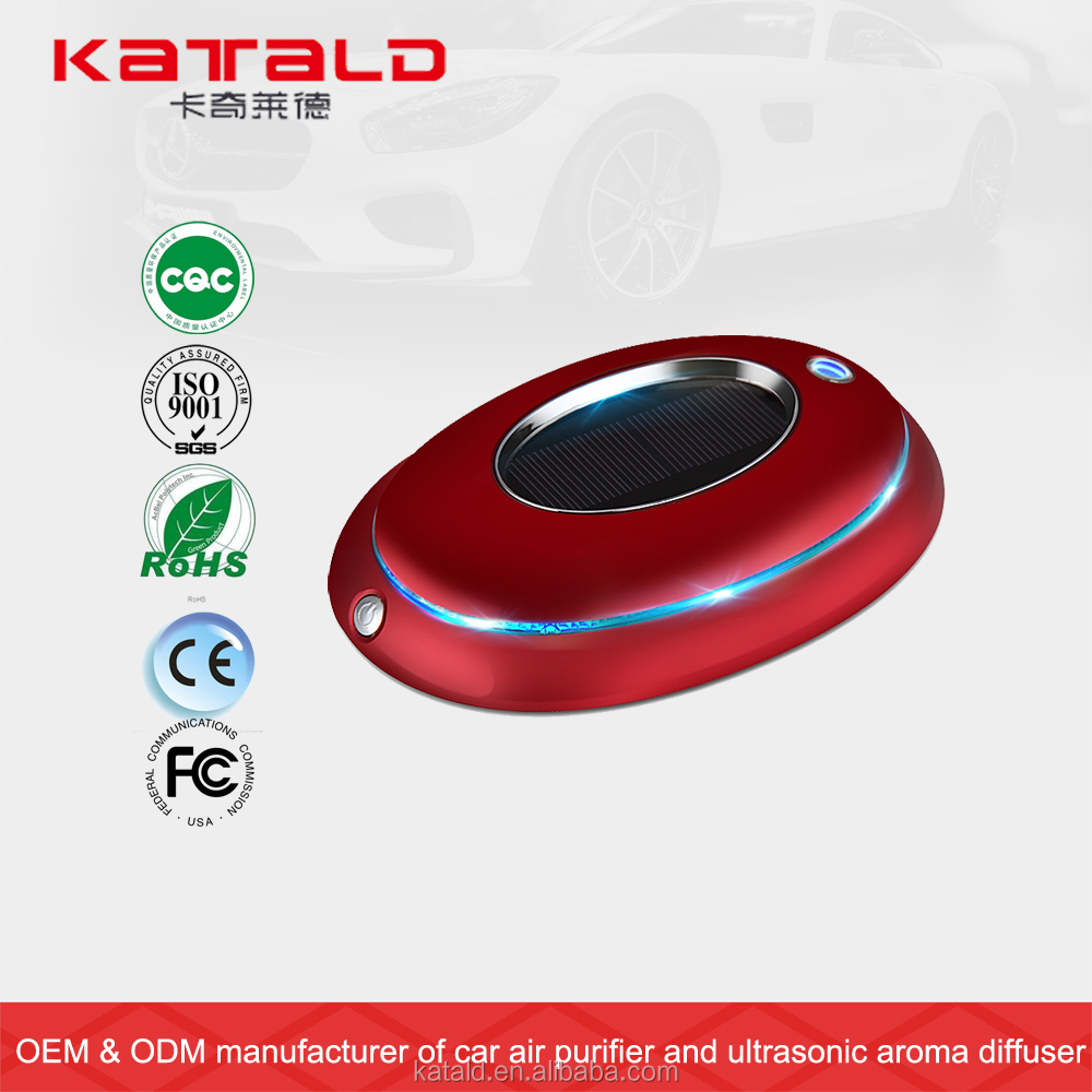 Hot sale solar powered aroma humidifier car air purifier with USB