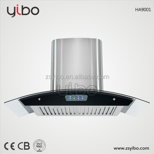 High Quality Kitchen Chimney 90CM Cooker Hood with SS Baffle Filter Copper Motor