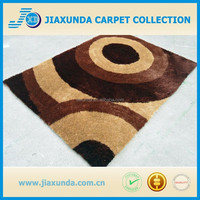 Hot design high quality polyester silk soft on sale wall to wall carpet