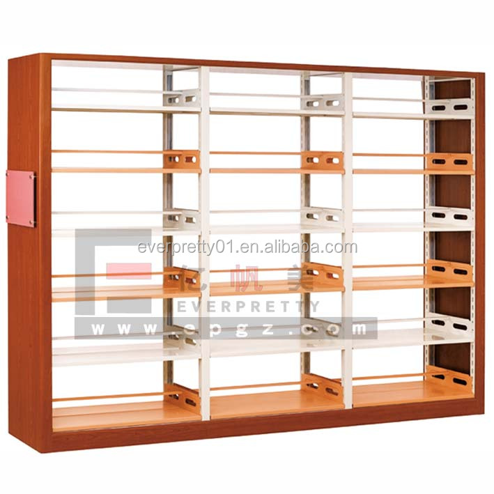 Library Manufacturers Furniture Wood and Metal Library Stand Movable Wooden Bookcase